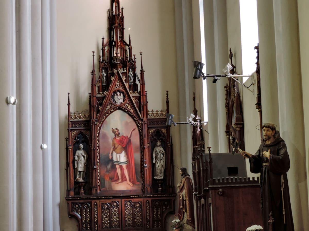 Katolícka, dekorácie interiéru, katedrála, Architektúra, náboženstvo, kostol, oltár, umenie