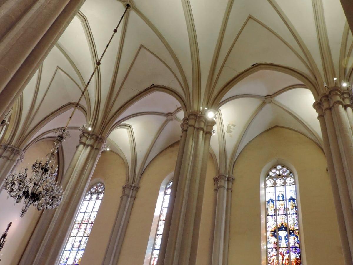 luster, kresťanstvo, dekorácie interiéru, budova, kostol, náboženstvo, Architektúra, strecha