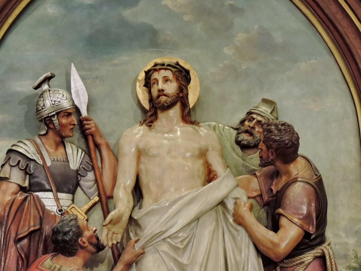 Христос, християнство, розп'яття, Відродження, скульптура, люди, Релігія, мистецтво