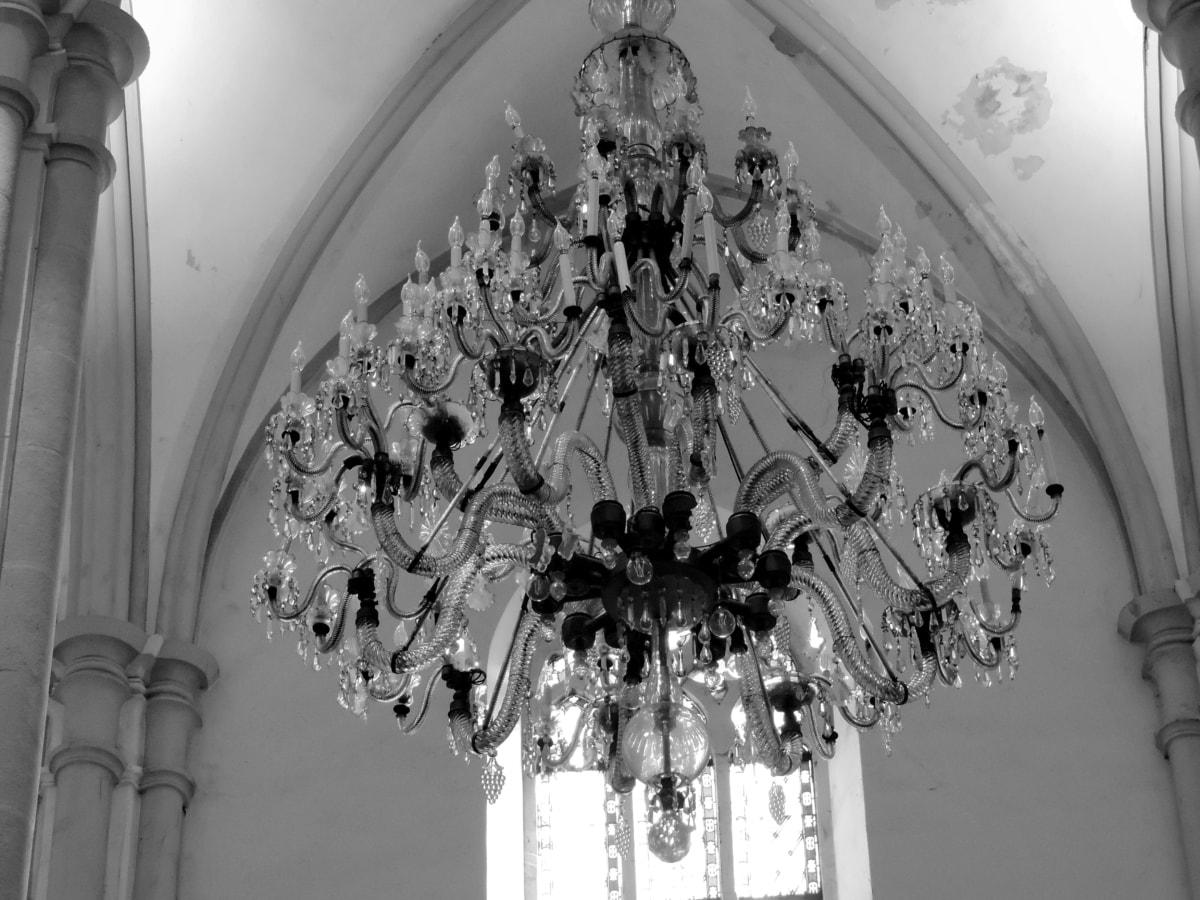arhitektura, crkva, luster, strop, dekoracija, vjerske, umjetnost, religija