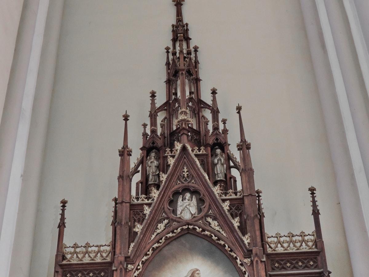 altaret, Domkyrkan, katolska, arkitektur, struktur, Skapa, kyrkan, religion