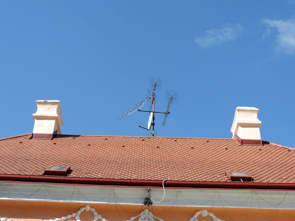 acoperiş, pe acoperiş, Casa, arhitectura, care acoperă, faianta, constructii, antenă