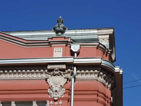 baroque, corner, decoration, rooftop, building, architecture, outdoors, city