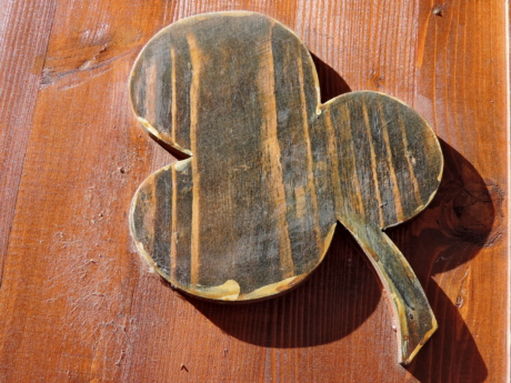 luck, positive, symbol, covering, wood, wooden, retro, old