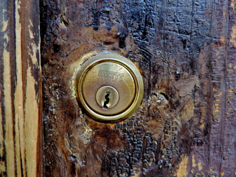 brass, carpentry, keyhole, wood, old, door, rust, iron