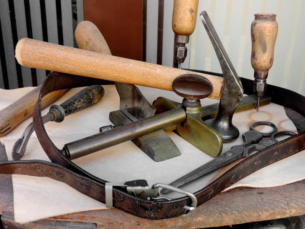 Młot, łyżka, drewno, stary, antyk, zabytkowe, narzędzia, drewniane