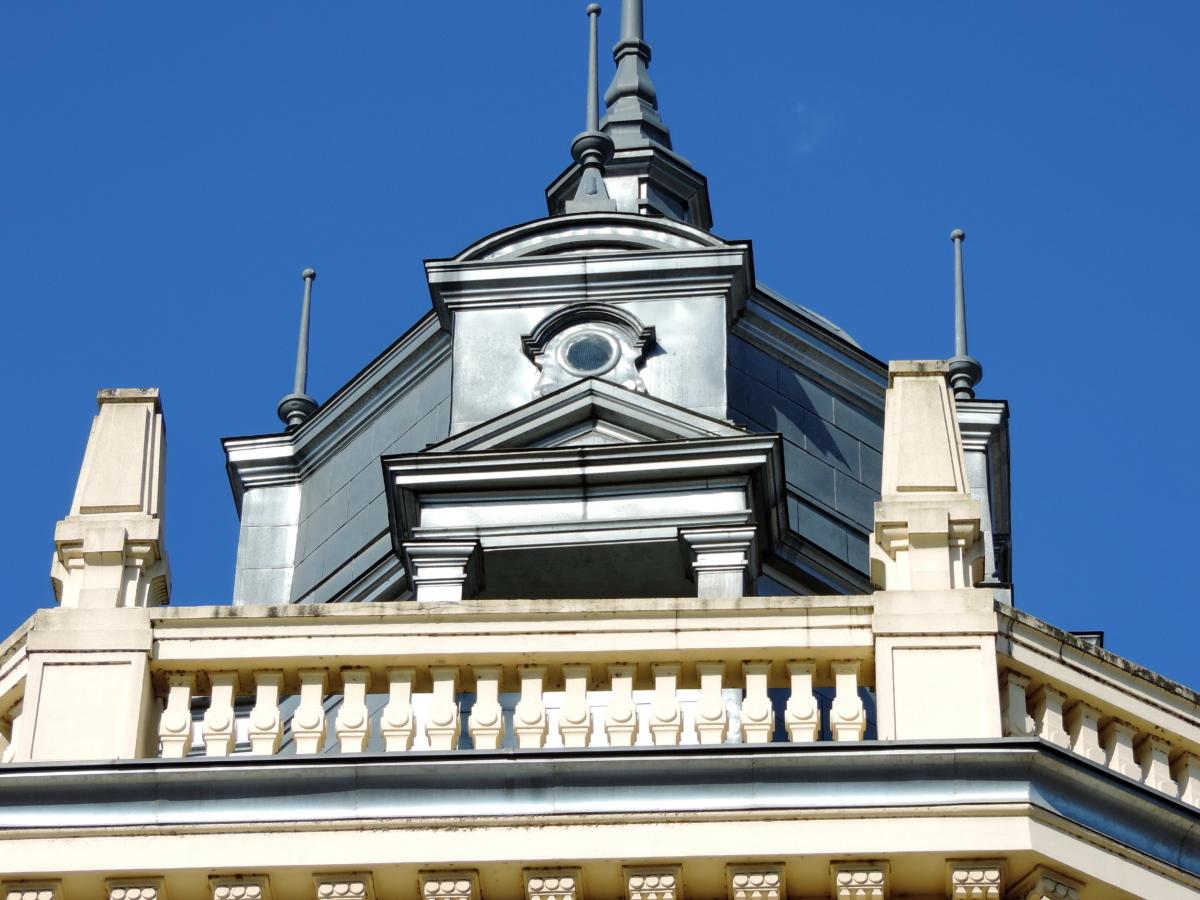 barokk, réz, tető, torony, építészet, épület, város, szabadban
