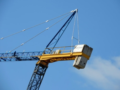 industry, crane, construction, device, engineering, steel, equipment, machine