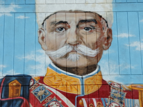 fine arts, graffiti, king, liberty, patriotism, Serbia, mosaic, art