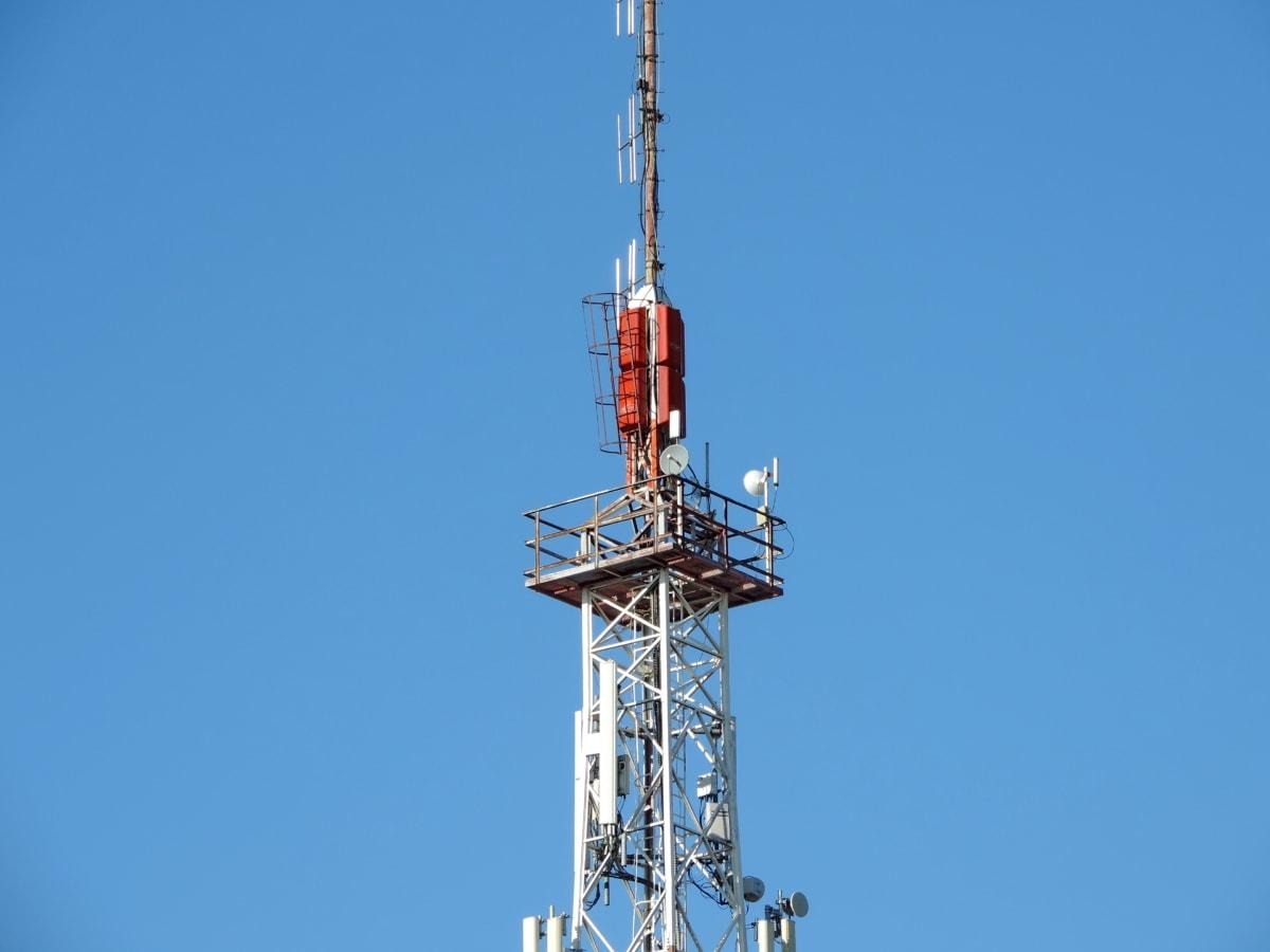 bežični, antena, toranj, televizija, satelit, tehnologija, telefon, telekomunikacija