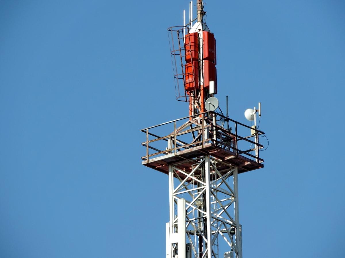 věž, anténa, ocel, napájení, průmysl, zařízení, zesilovač, bezdrátové