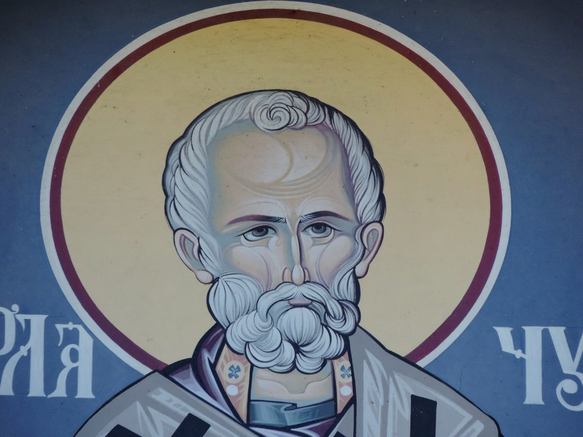 christianity, church, portrait, saint, man, art, religion, illustration