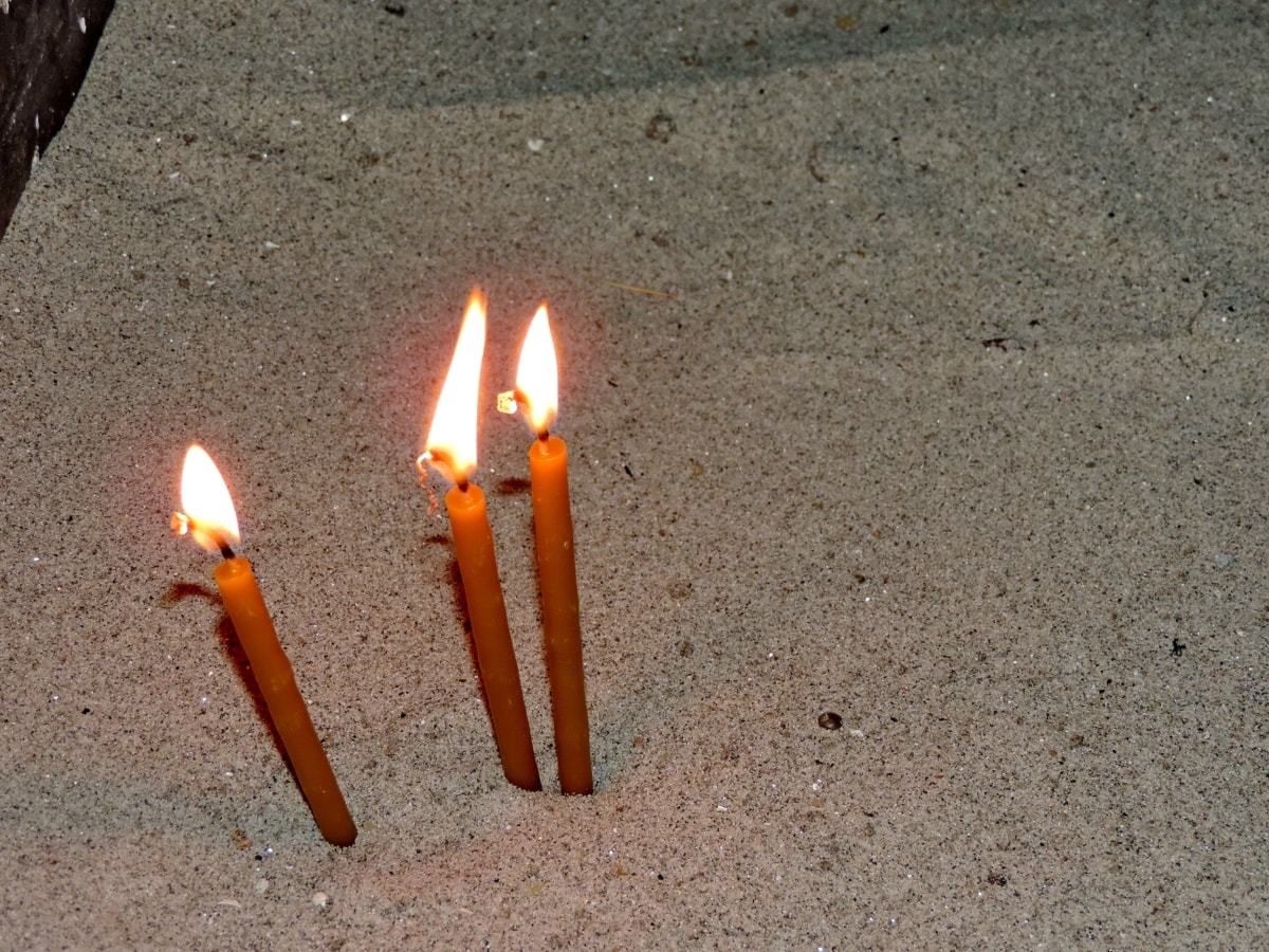 seremoni, religiøse, flamme, brann, varme, brenne, stearinlys, lys