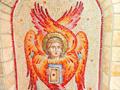 angel, christianity, fire, saint, art, mosaic, religion, culture
