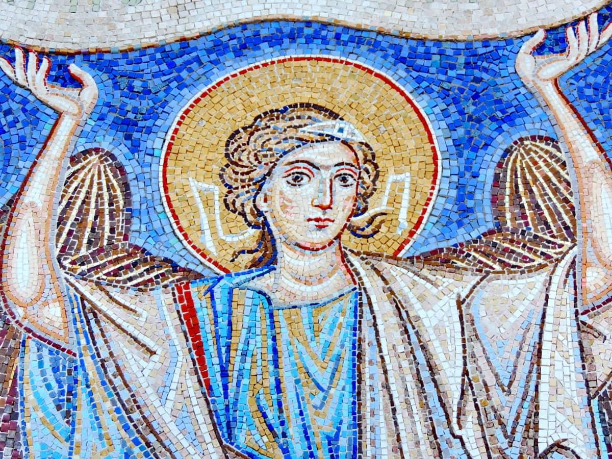Άγγελος, Χριστιανισμός, Ορθόδοξη, φτερά, Πολιτισμός, μωσαϊκό, θρησκεία, τέχνη