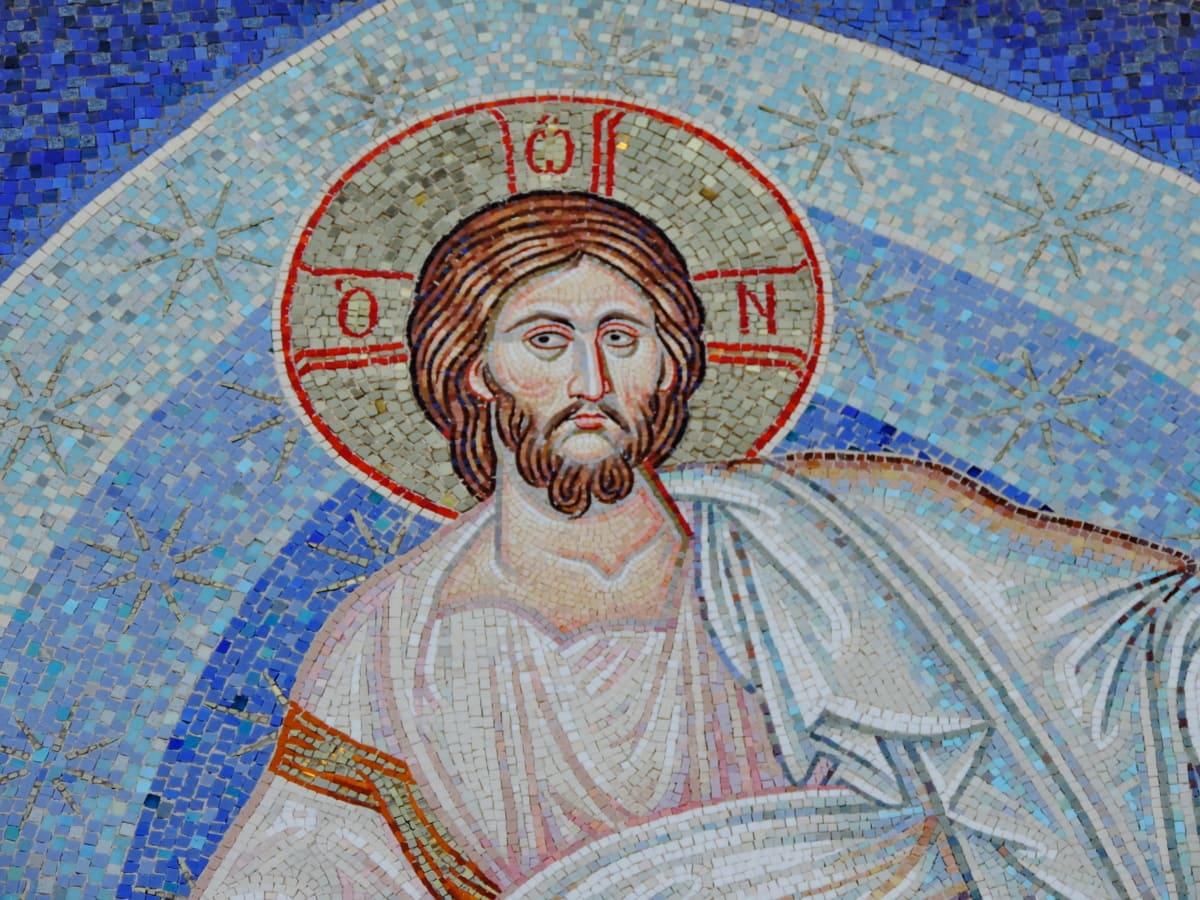 Krist, kršćanstvo, mozaik, umjetnost, religija, stari, simbol, čovjek