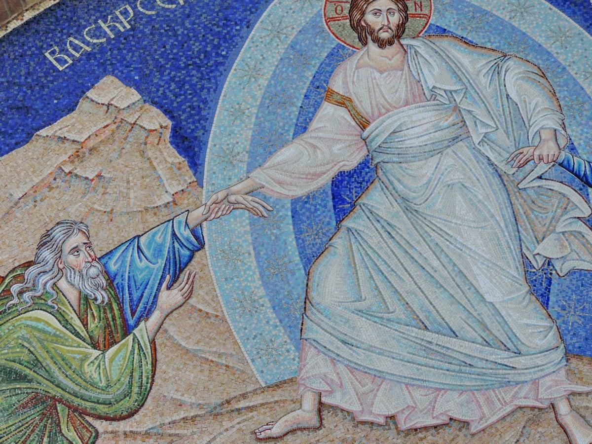 Христос, христианство, Небеса, Мозаика, Религия, Искусство, живопись, люди