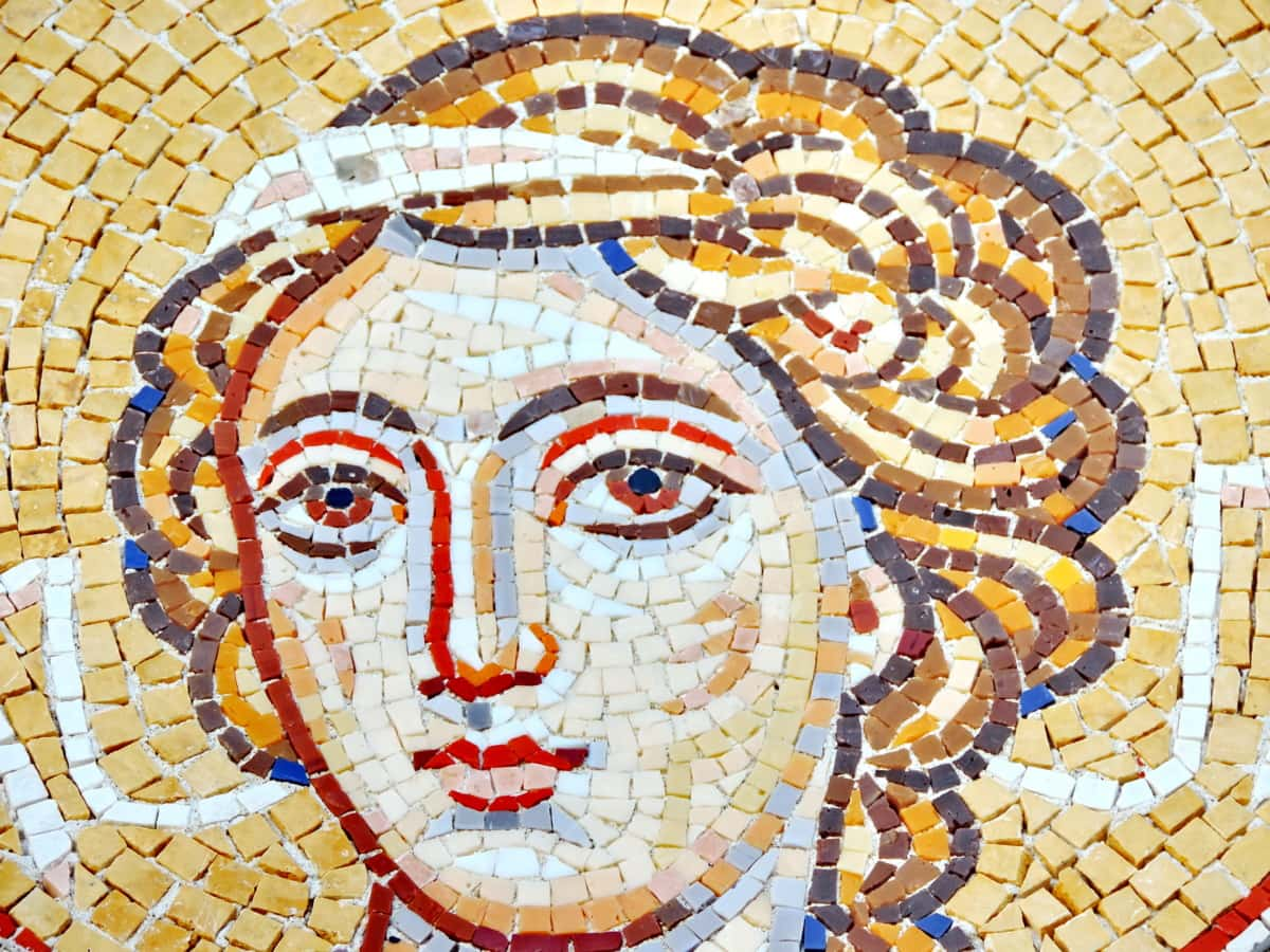 mosaic, art, wall, old, culture, symbol, pattern, religion
