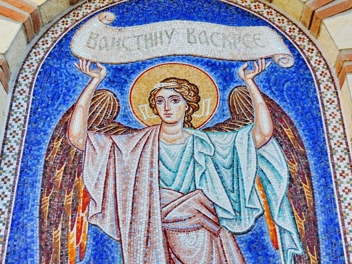 Malaikat, Kekristenan, seni rupa, mosaik, santo, agama, seni, Gereja