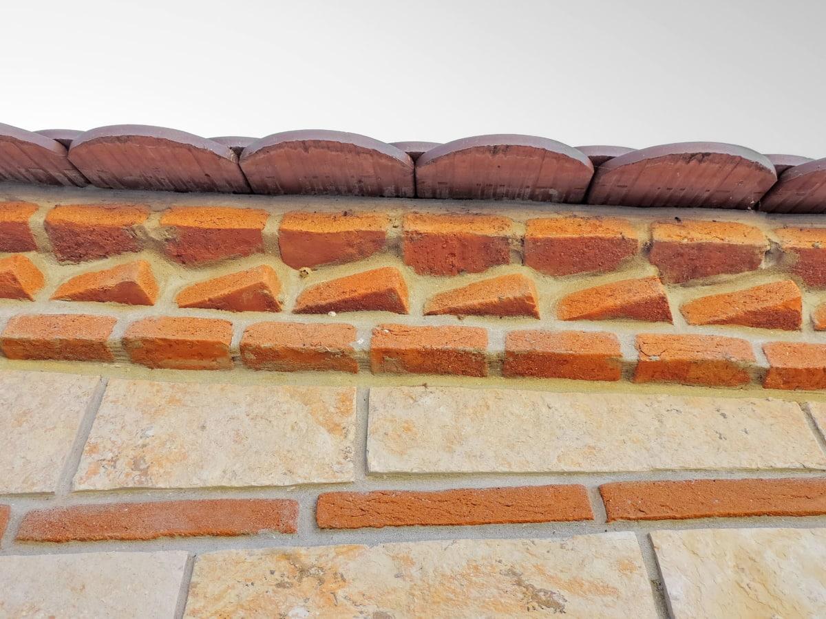 textura, perete, clădire, care acoperă, caramida, faianta, ciment, vechi