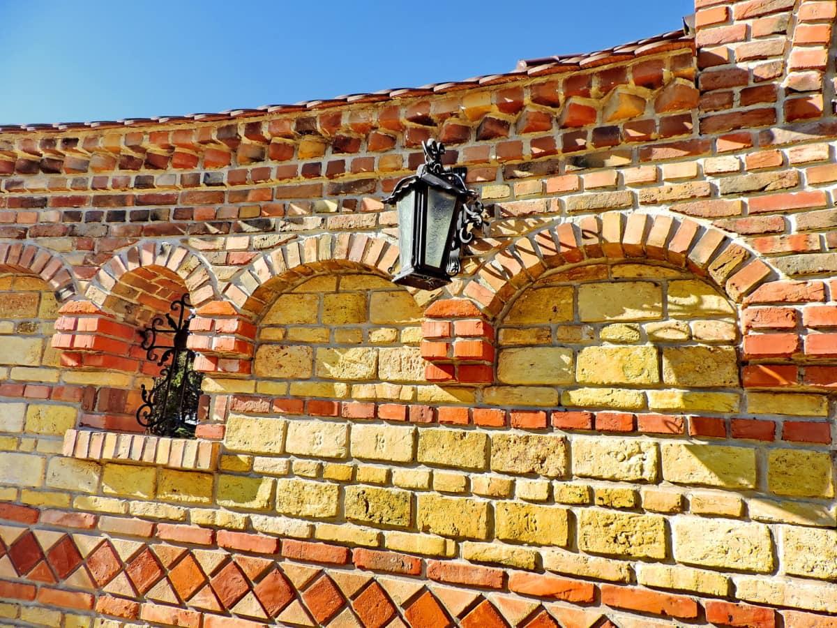 αρχιτεκτονικό ύφος, τέχνη, Χυτοσίδηρος, διακόσμηση, τοίχου, τούβλο, αρχιτεκτονική, παλιά