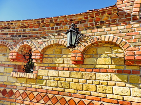 architectural style, art, cast iron, decoration, wall, brick, architecture, old