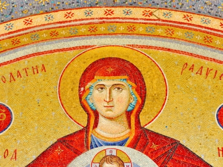 Christ, christianity, mother, mosaic, religion, art, old, culture