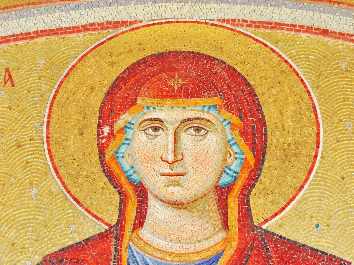 byzantské, křesťanství, ortodoxní, mozaika, umění, staré, malba, náboženství