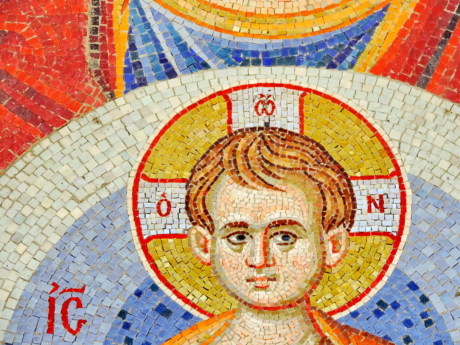 child, christianity, mosaic, art, old, culture, wall, painting