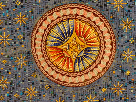 arabesque, colorful, handmade, oriental, round, symbol, art, mosaic