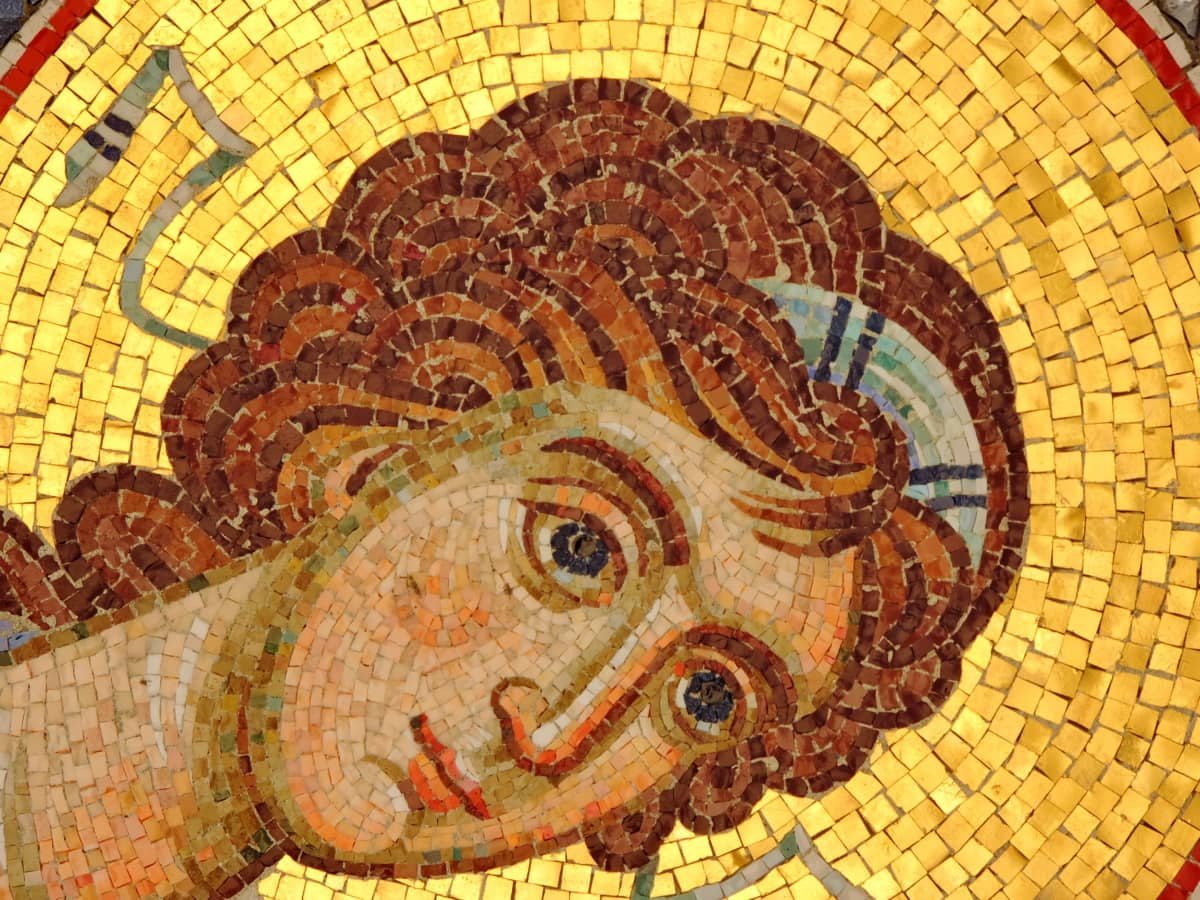 lice, portret, sveti, umjetnost, mozaik, stari, uzorak, dizajn