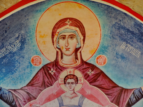 Christ, icon, mother, orthodox, saint, painting, art, people