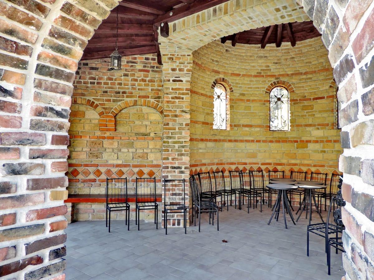 Βυζαντινή, διακόσμηση εσωτερικών χώρων, κτίριο, αρχιτεκτονική, σπίτι, τοίχου, παλιά, παράθυρο