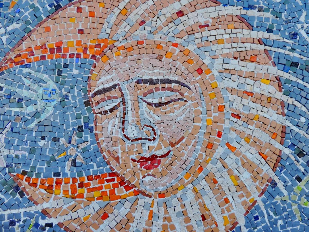 изкуство, творчеството, изящни изкуства, ръчно изработени, Луната, мозайка, дизайн, художествени