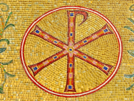 Byzantine, christianity, sign, symbol, symptoms, mosaic, round, pattern