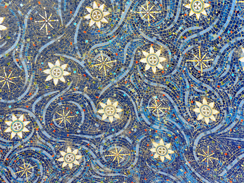 Kostenlose Bild Arabeske Blau Handgefertigte Mosaik