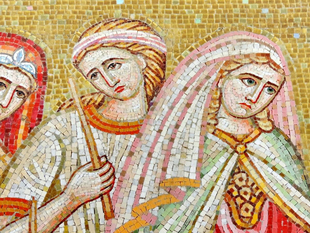 ยุคกลาง, โมเสค, ควีน, ผู้หญิง, ศาสนา, สร้าง, ศิลปะ, วัฒนธรรม