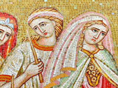 medieval, mosaic, queen, women, religion, creation, art, culture