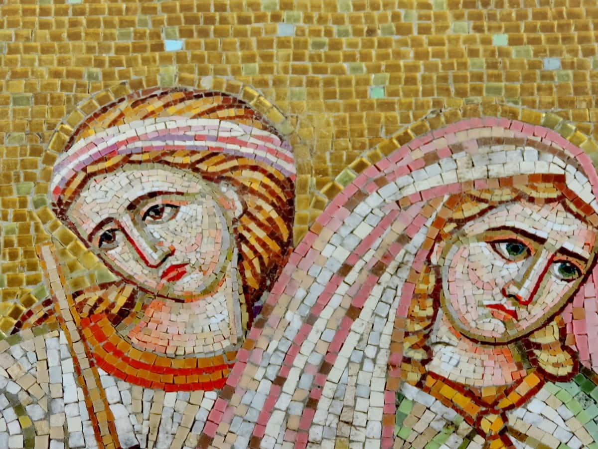 medieval, mosaic, portrait, women, ancient, antique, art, artistic