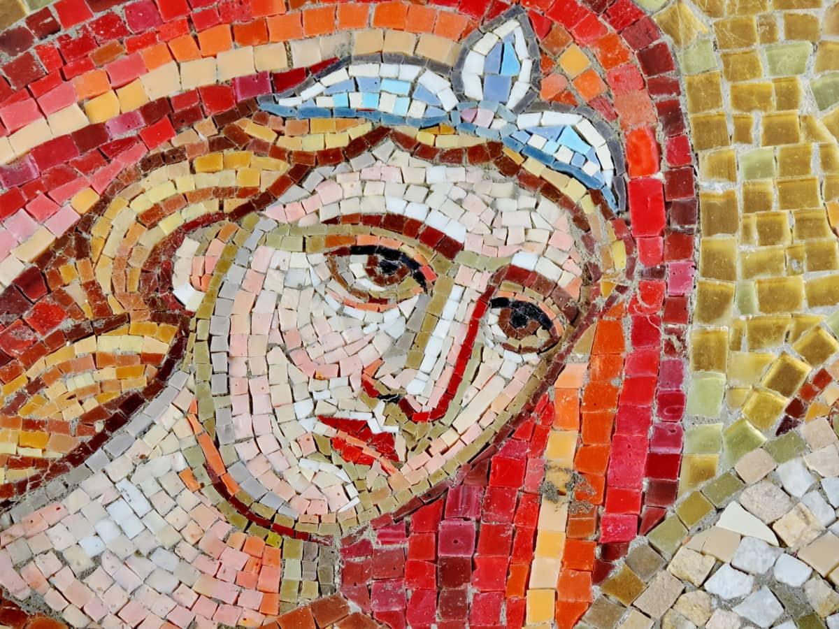 Καλών Τεχνών, τοιχογραφία, γυναίκα, τοίχου, τέχνη, μωσαϊκό, Πολιτισμός, καλλιτεχνική