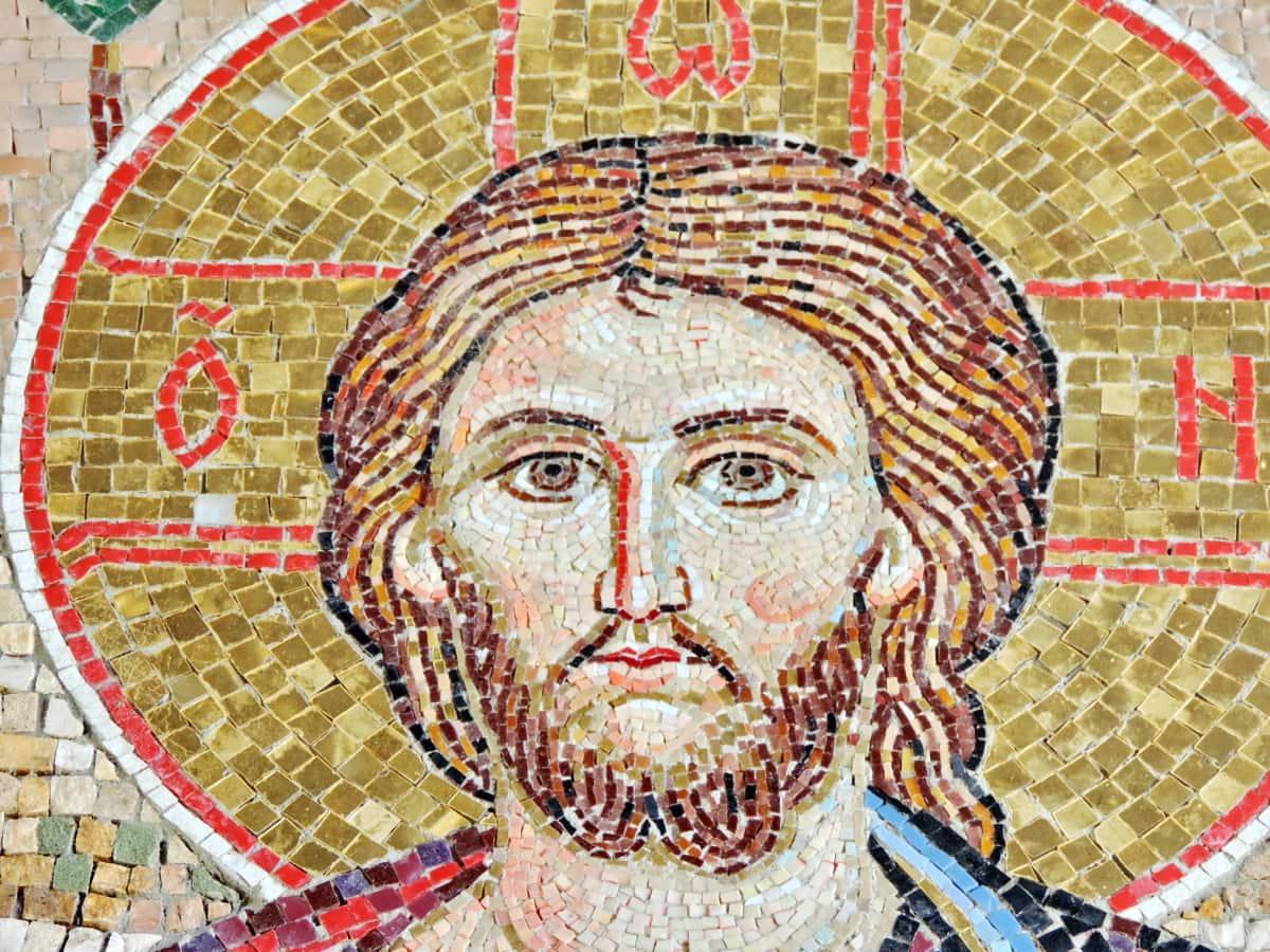 τέχνη, Χριστός, Χριστιανισμός, μωσαϊκό, θρησκεία, δημιουργία, τοίχου, παλιά