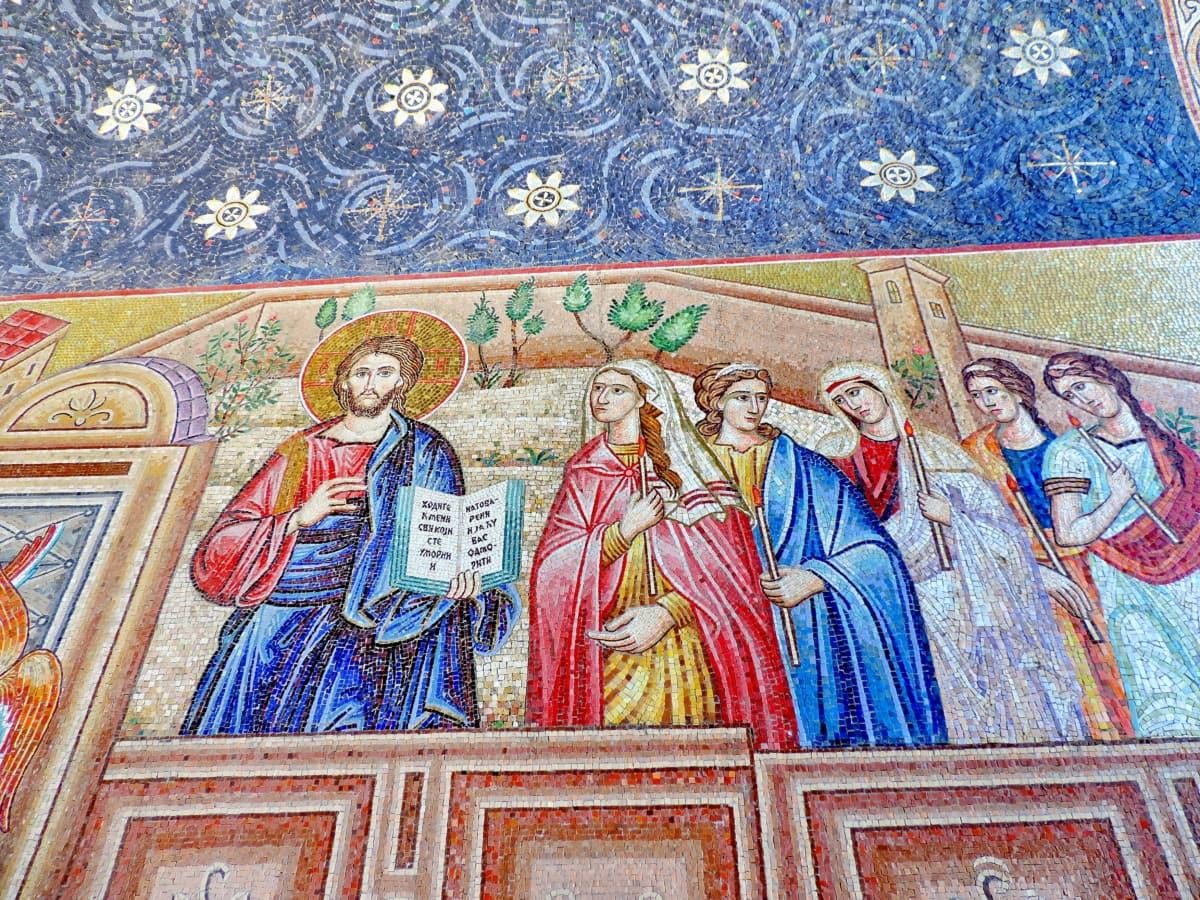 Cristianismo, mosaico, religião, arte, cultura, Igreja, padrão, decoração