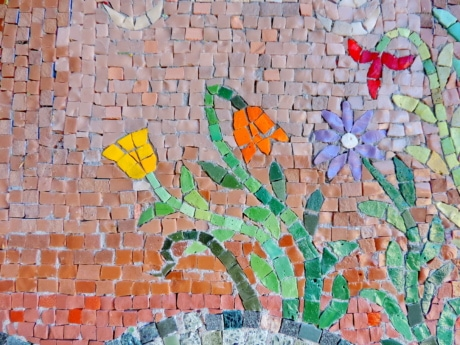 art, colorful, creativity, handmade, mosaic, stones, pattern, wall