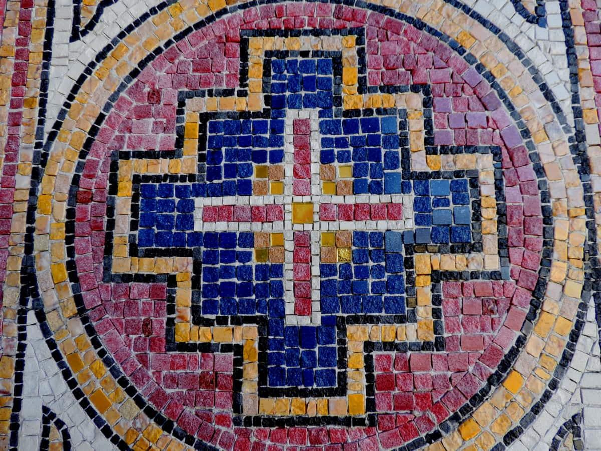 mosaikk, kunst, mønster, kunstnerisk, tekstur, retro, arkitektur, design