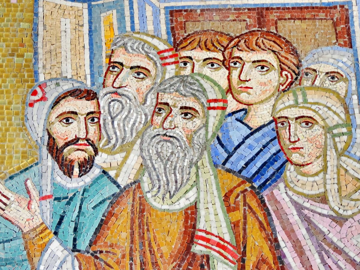 art, mosaic, religion, old, print, culture, illustration, man