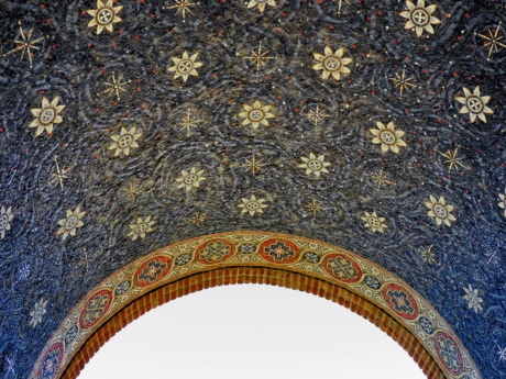 arabesque, arch, mosaic, decoration, art, pattern, texture, abstract