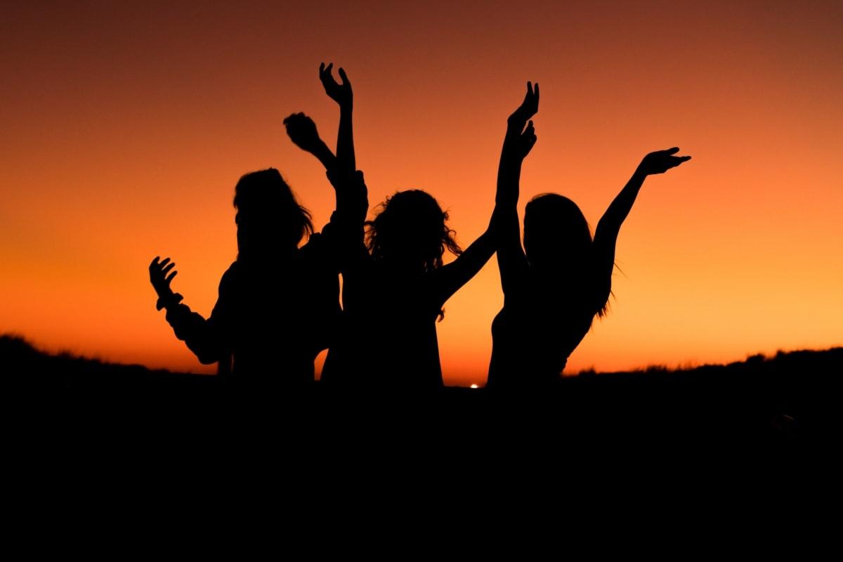 móda, priateľstvo, dievčatá, nádherná, krásne dievča, teenager, žena, ľudia