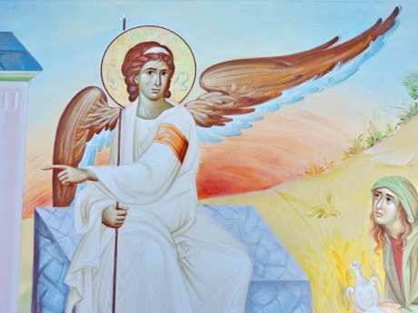 Angel, fine arts, Himlen, ikon, illustration, kunst, religion, kvinde