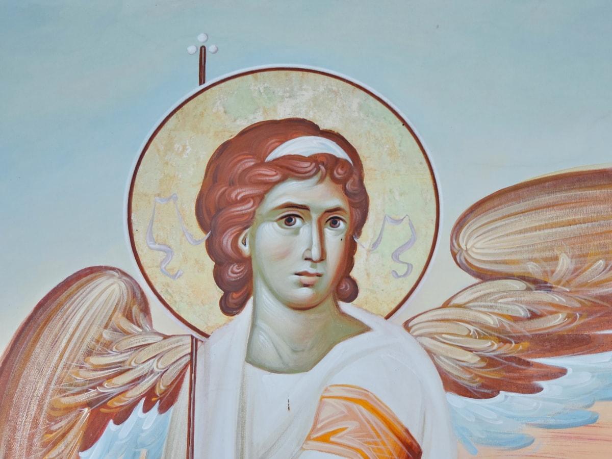 Ангел, икона, Криле, илюстрация, изкуство, религия, хора, живопис