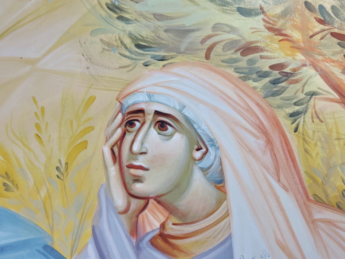 face, art, painting, religion, people, illustration, color, woman